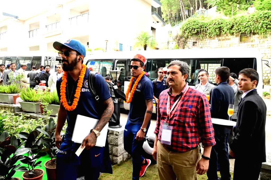 Indian cricketer Lokesh Rahul arrives in Dharamsala ahead of India's first T20I match against South Africa, on Sep 13, 2019. - Lokesh Rahul