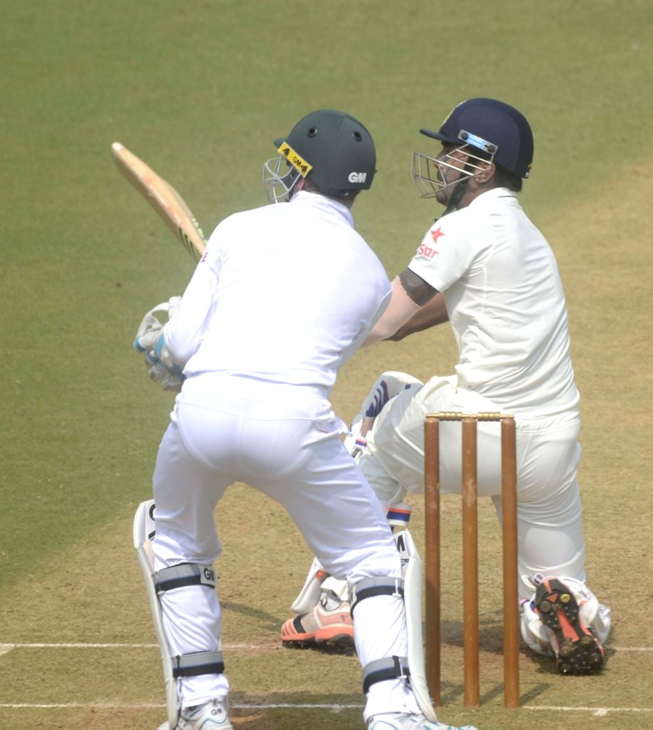 Indian cricketer Lokesh Rahul in action during a match between Indian Board President`s XI and South African at Brabourne Stadium in Mumbai on Oct 30, 2015. - Lokesh Rahul
