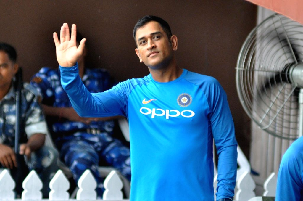 Indian cricketer MS Dhoni at the Eden Gardens in Kolkata on Sept 20, 2017. - MS Dhoni