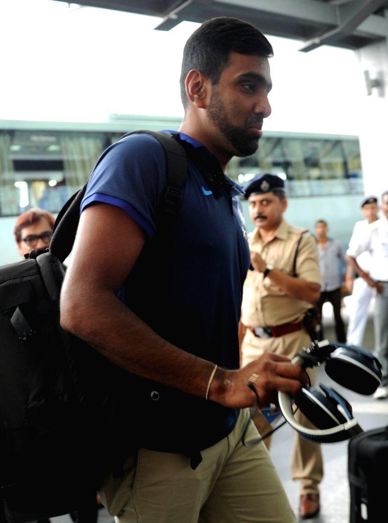 Indian cricketer R Ashwin departs from Netaji Subhas Chandra Bose International Airport in Kolkata on Oct 5, 2016.
