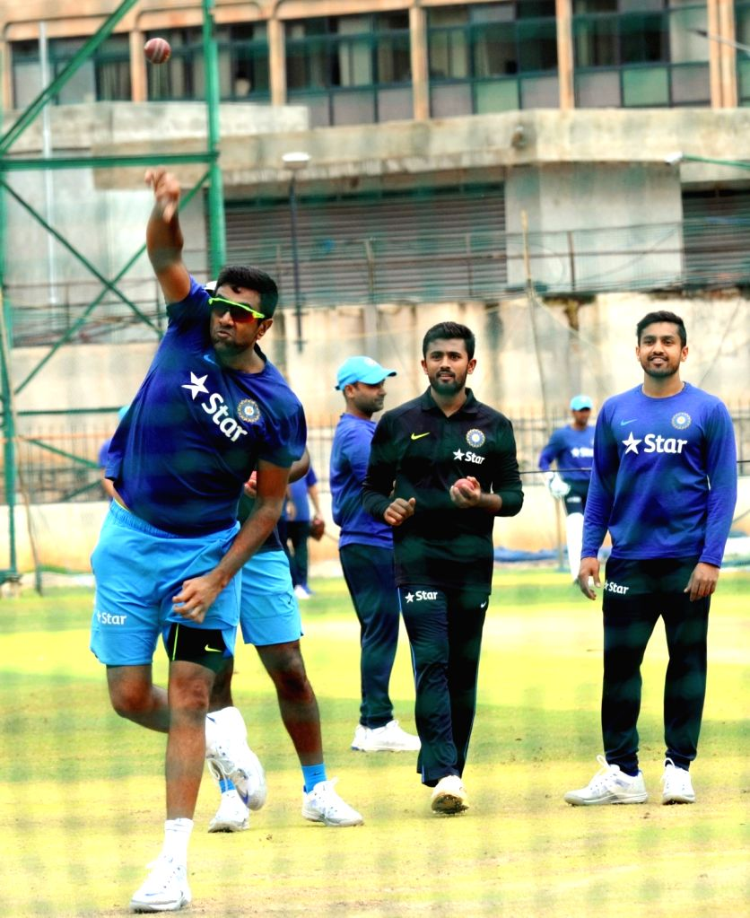 Indian cricketer R Ashwin during a preparatory camp ahead of  West Indies tour at National Cricket Academy at Chinnaswamy Stadium, in Bengaluru on July 1, 2016.