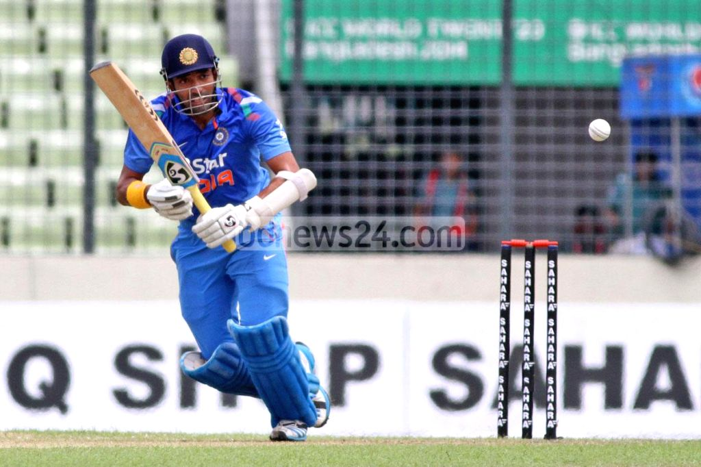 Indian cricketer Robin Uthappa in action during the third One Day International (ODI) match between India and Bangladesh at the Sher-e-Bangla National Cricket Stadium in Dhaka, Bangladesh on June 19,