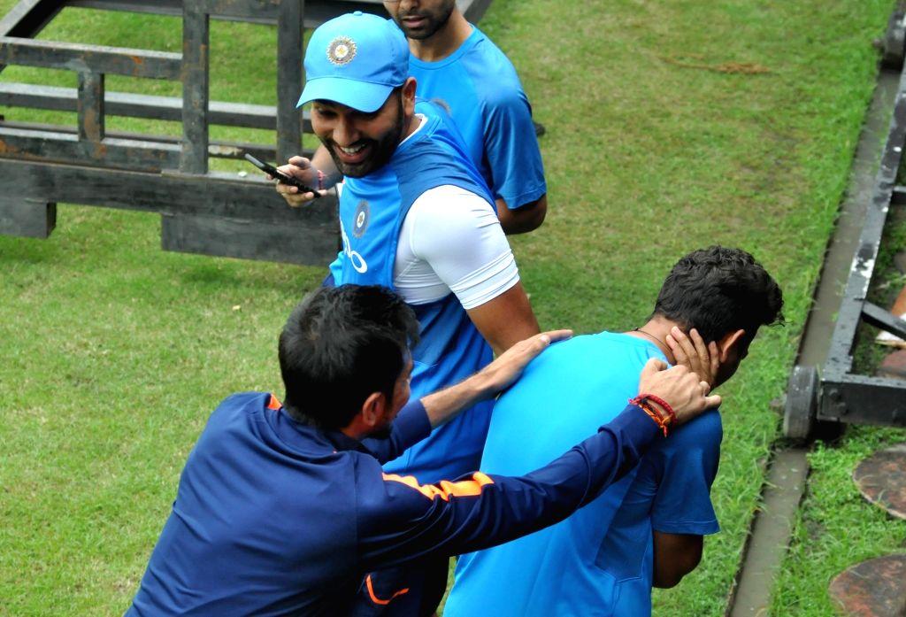 Indian cricketer Rohit Sharma at the Eden Gardens in Kolkata on Sept 20, 2017. - Rohit Sharma
