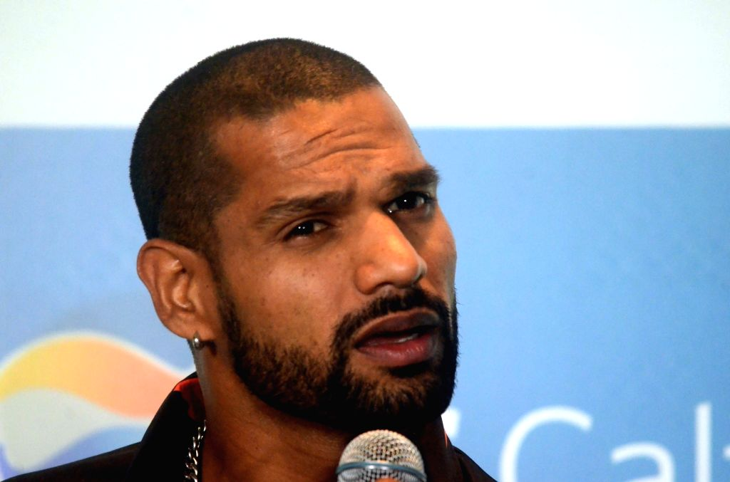 Indian cricketer Shikhar Dhawan during a programme organised by GS Caltex India to sign him as their brand ambassador in Mumbai on April 24, 2019. - Shikhar Dhawan