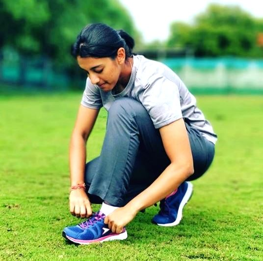 Indian cricketer Smriti Mandhana.