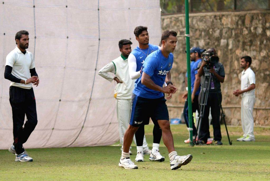 Indian cricketer Stuart Binny during a practice session ahead of the Fourth Test Match against India at Feroz Shah Kotla Ground in New Delhi on Dec 2, 2015.