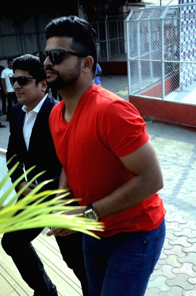 Indian cricketer Suresh Raina during a Gulf Petroleum programme in Mumbai, on April 5, 2016.