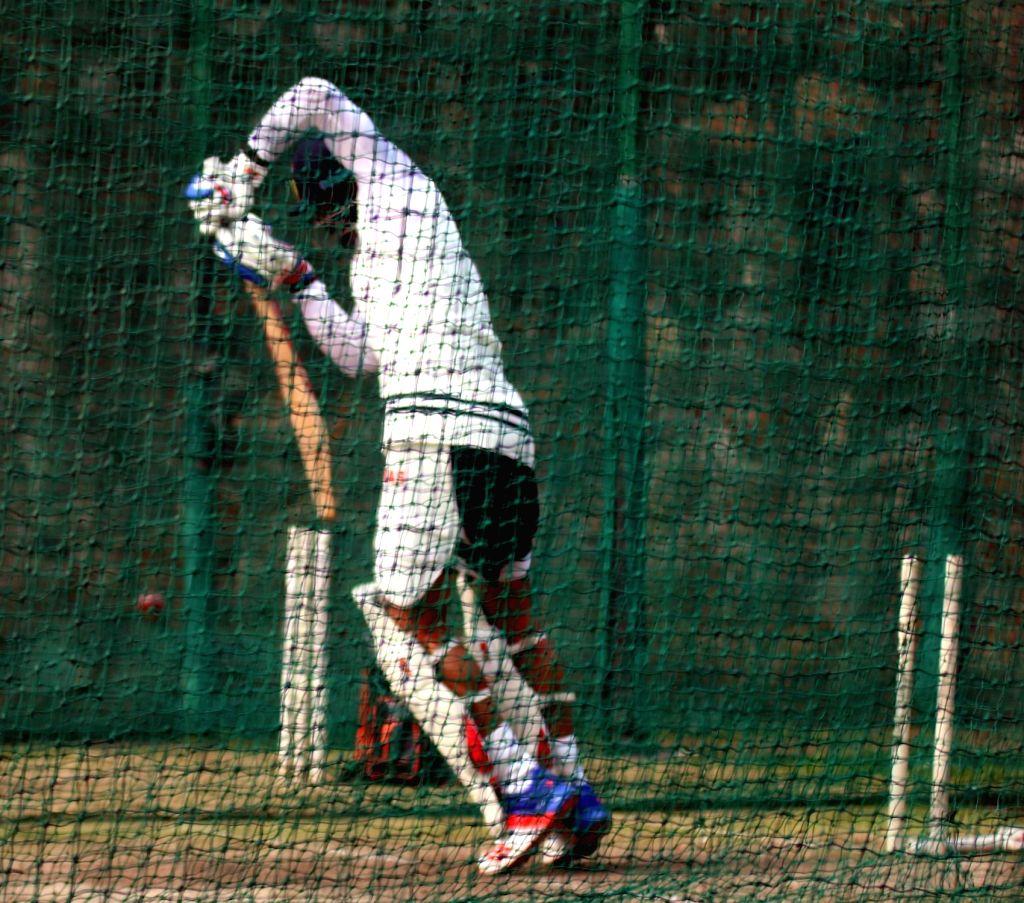 Indian cricketer Virat Kohli  during a practice session ahead of the Fourth Test Match against India at Feroz Shah Kotla Ground in New Delhi on Dec 2, 2015. - Virat Kohli