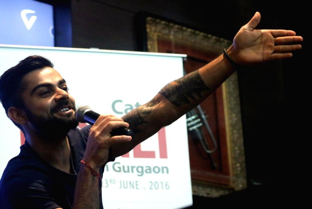 Indian cricketer Virat Kohli during a programme in Gurgaon on June 23, 2016. - Virat Kohli