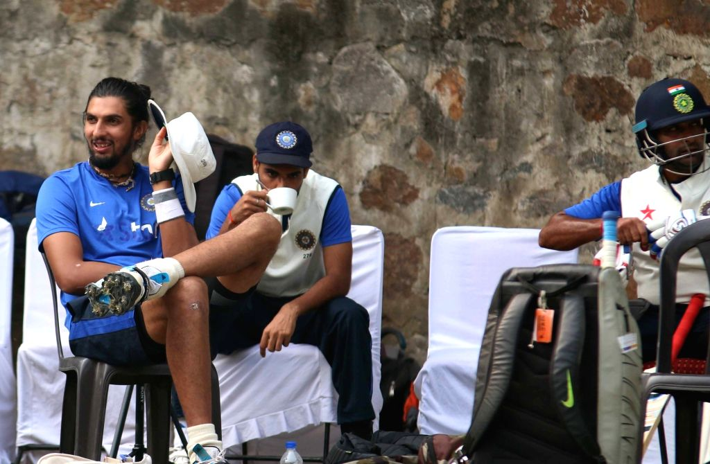 Indian cricketers during a practice session ahead of the Fourth Test Match against India at Feroz Shah Kotla Ground in New Delhi on Dec 2, 2015.