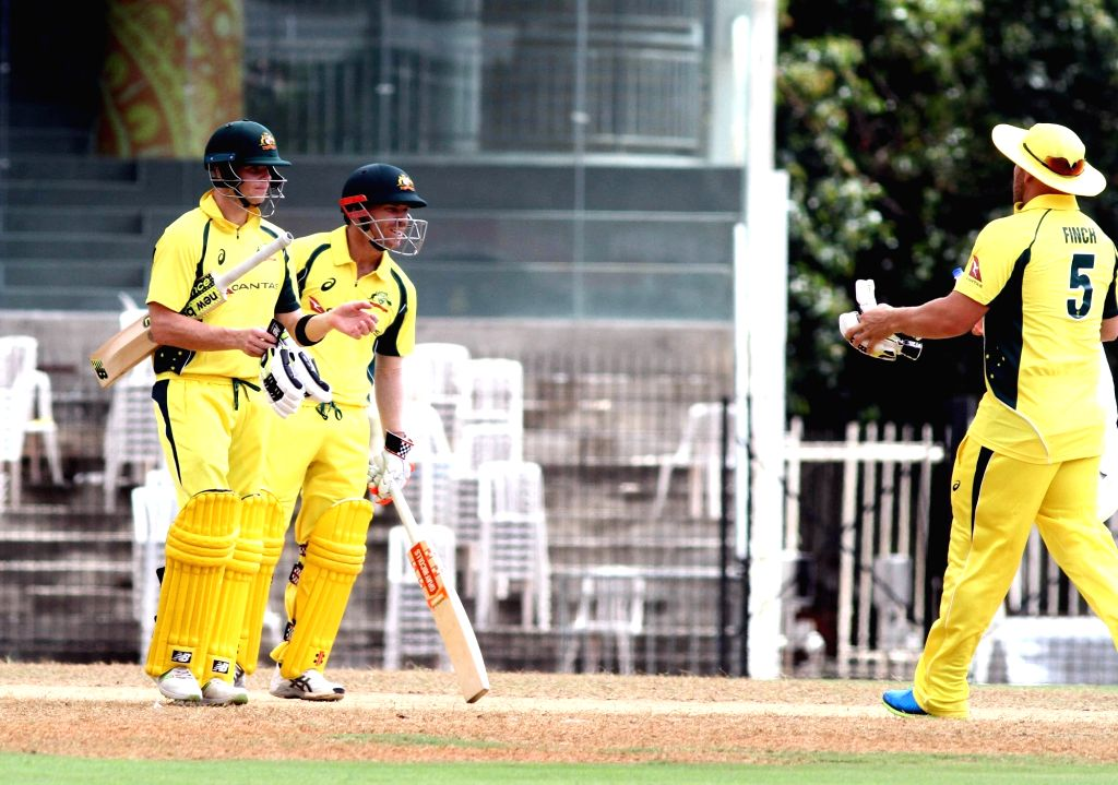 Indian cricketers in action during the Board President's XI vs Australia at MA Chidambaram Stadium in Chennai on Sept 12, 2017.