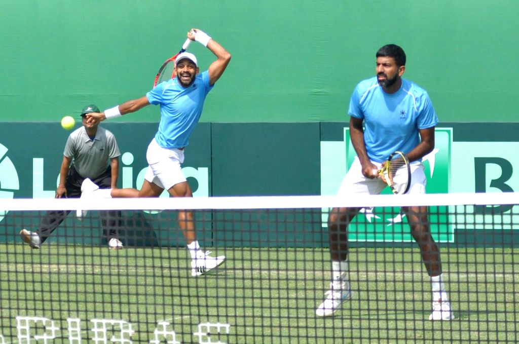 Indian doubles pair of Rohan Bopanna and Divij Sharan. (Photo: Kuntal Chakrabarty/IANS) - Rohan Bopanna