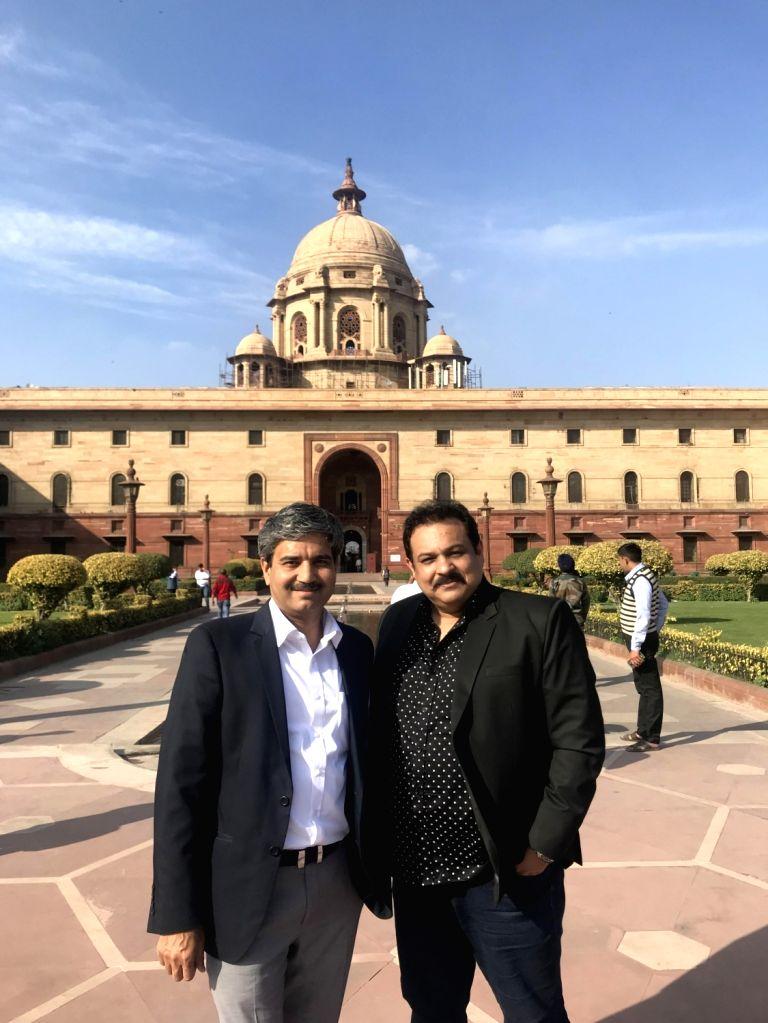 Indian envoy J P. Singh with Jatish Varma of Movie Studioz. - J P. Singh