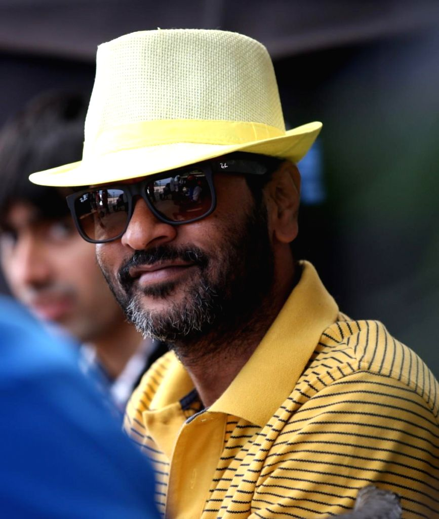 Indian film actor, director and dance choreographer Prabhu Deva on the sets of his upcoming film `Action Jackson`.