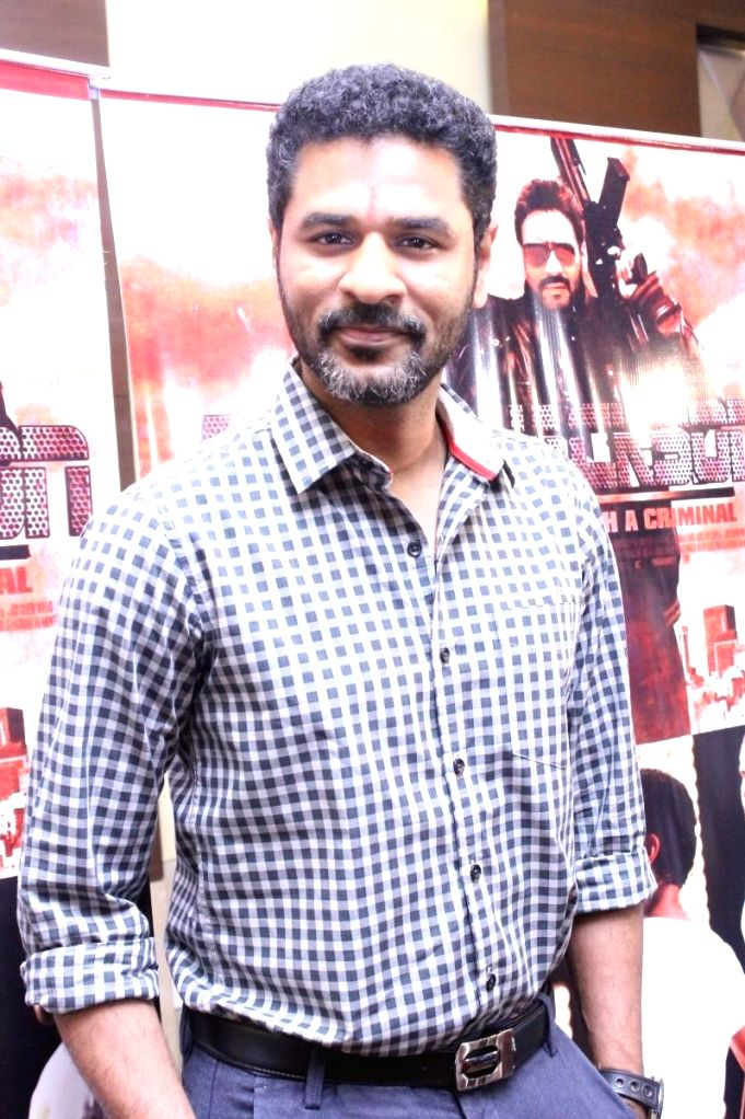 Indian film actor, director and dance choreographer Prabhu Deva during a press conference of his upcoming film `Action Jackson` in Chennai.