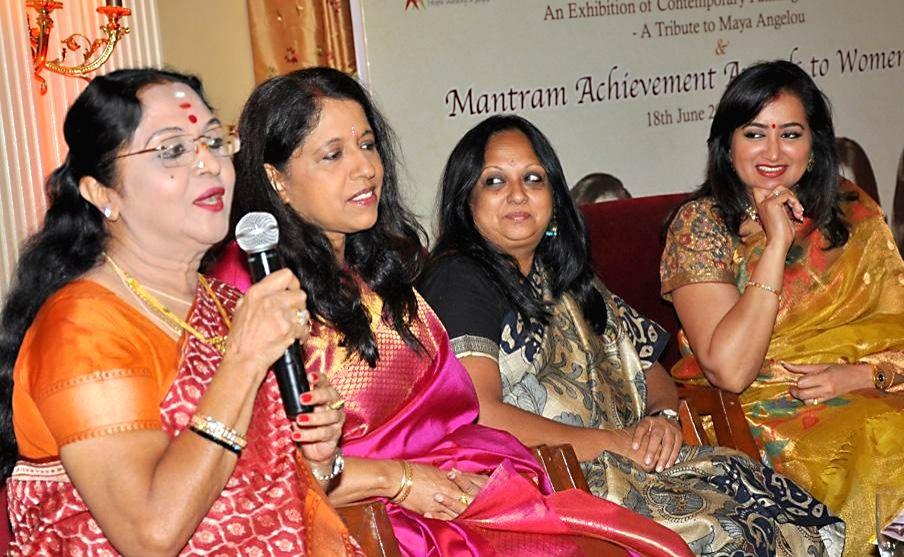 """Indian film playback singer Kavita Krishnamurthy during """"Phenomenal Women That's Me"""" - a Five-Day Long Art Show in Bangalore on June 19, 2014."""