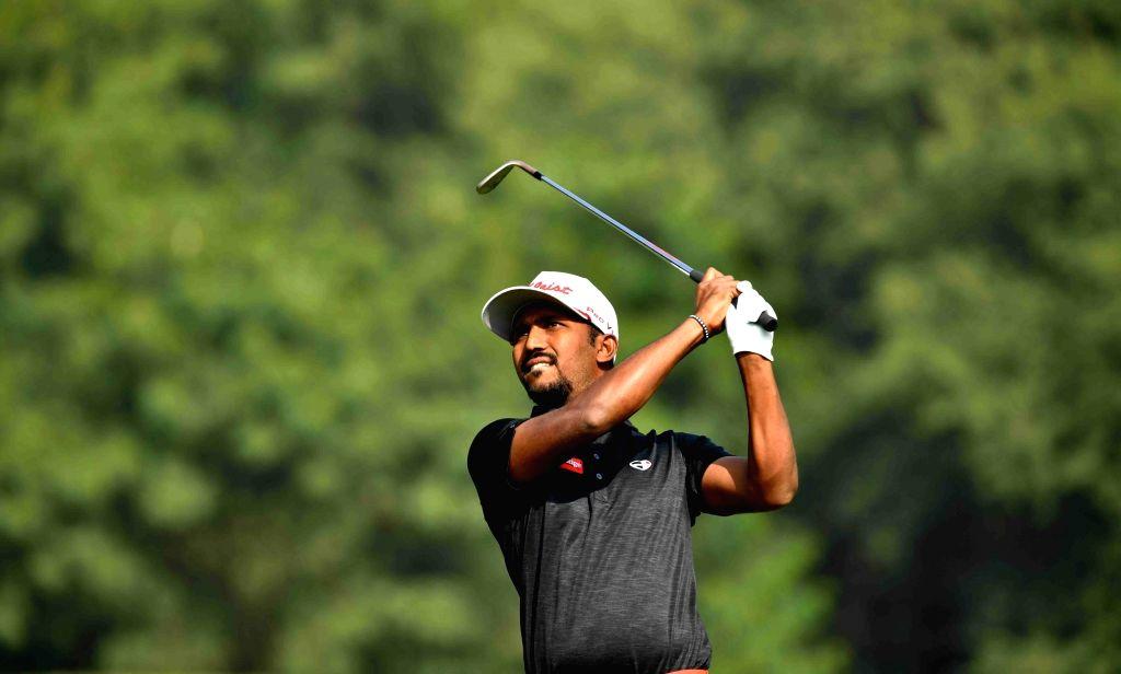 Indian golfer S Chikkarangappa.