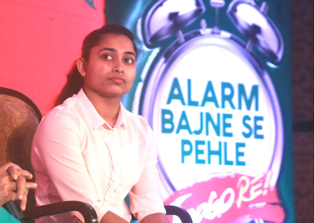 Indian Gymnast Dipa Karmakar during Tata Tea Jaago Re 2.0 Media Roundtable in New Delhi, on June 22, 2017.
