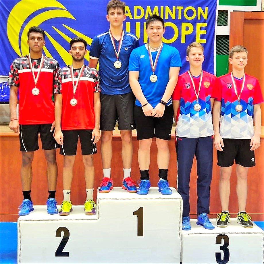 Indian Junior Shuttlers, Ishan Bhatnagar and Vishnuvardhan won Silver medal in Boy's Doubles at the Bulgarian Junior International Championships.