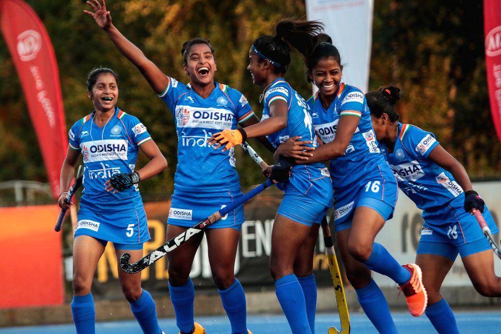 Indian junior women's hockey team returns from Chile.