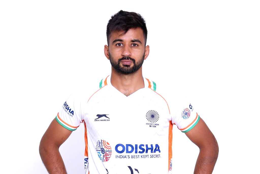 Indian Men's hockey team captain Manpreet Singh in the new White uniform. Hockey Fans can watch the Manpreet Singh-led Indian Men's team donning the new uniform at the forthcoming FIH Men's Series ... - Manpreet Singh