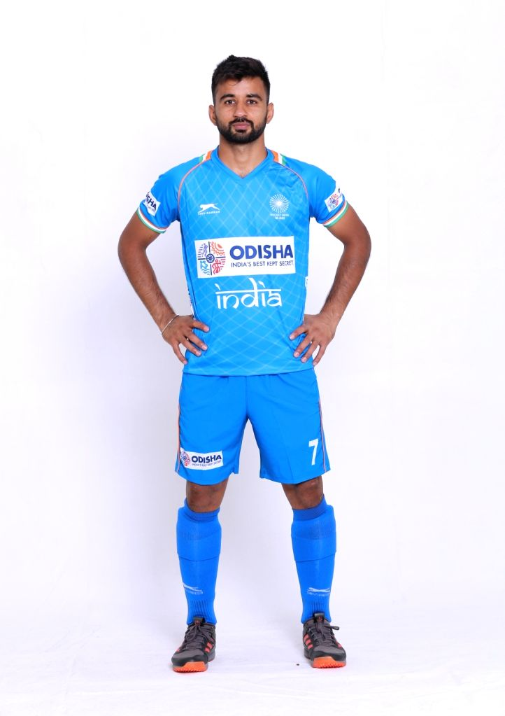 Indian Men's hockey team captain Manpreet Singh in the new Blue uniform. Hockey Fans can watch the Manpreet Singh-led Indian Men's team donning the new uniform at the forthcoming FIH Men's Series ... - Manpreet Singh