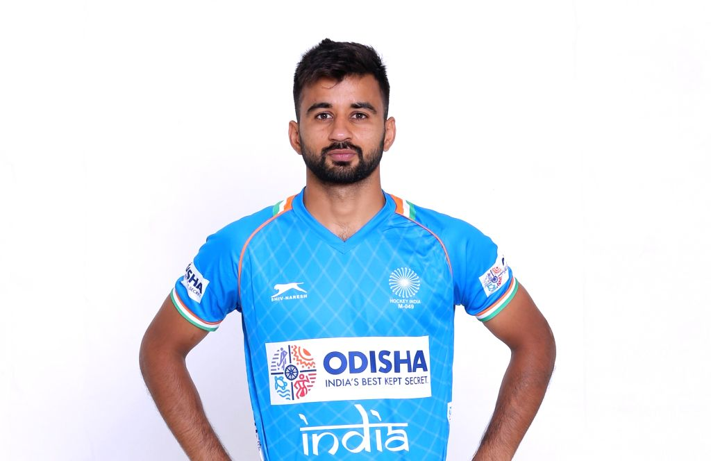 Indian Men's hockey team captain Manpreet Singh in the new Blue uniform. Hockey Fans can watch the Manpreet Singh-led Indian Men's team donning the new uniform at the forthcoming FIH Men's Series Finals Bhubaneswar Odisha 2019 starting 6 June 2019 wh - Manpreet Singh