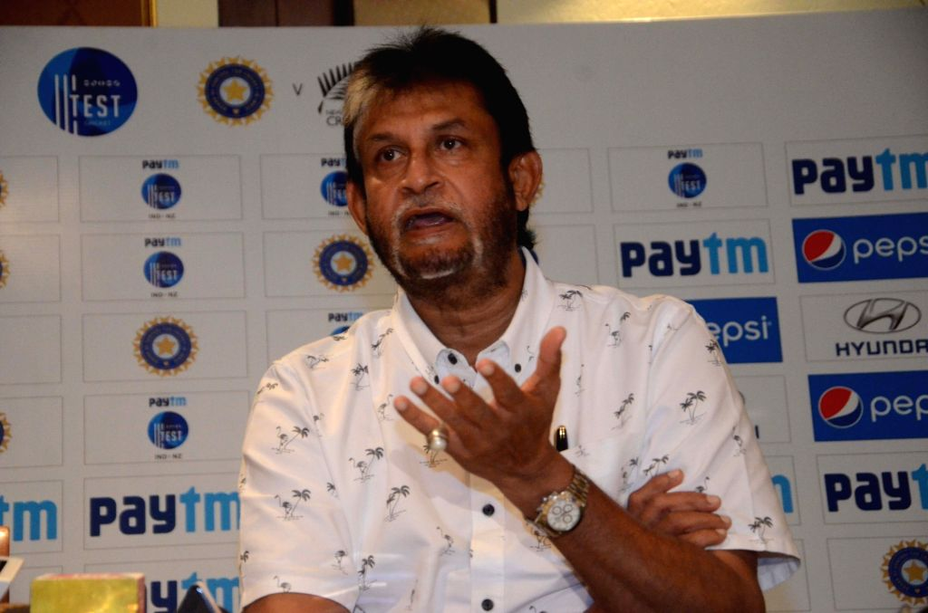 Indian national cricket team chief selector Sandeep Patil addresses a press conference to announce the team for three-match series against New Zealand starting from 22nd Sept, in Mumbai, on ... - Sandeep Patil