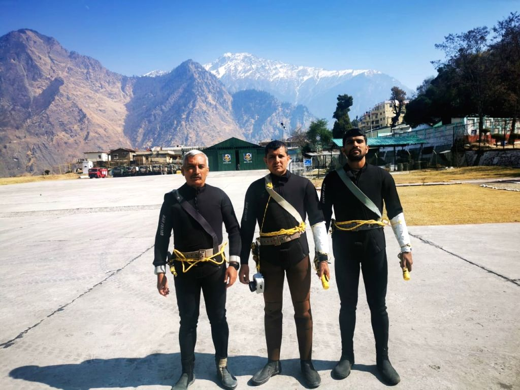 Indian Navy Diving Team Assess Glacial Lake Formation at Tapovan.