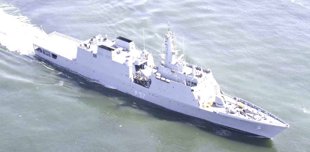 Indian Navy's Naval Offshore Patrol Vessel INS Sunayna. (File Photo: IANS/Indian Navy)