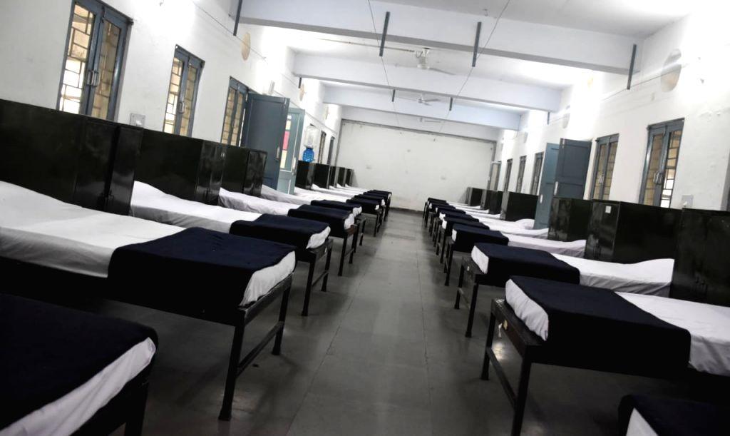 Indian Navy sets up Covid Care Centre in Odisha's Khurda. (@DefencePROkochi)