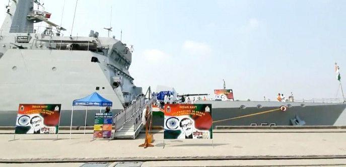 Indian Navywarship INS Kulish and INS Sumedha in a 3-day visit to celebrate the birth centenary of Bangabandhu & goldenjubilee of the independence of B'desh