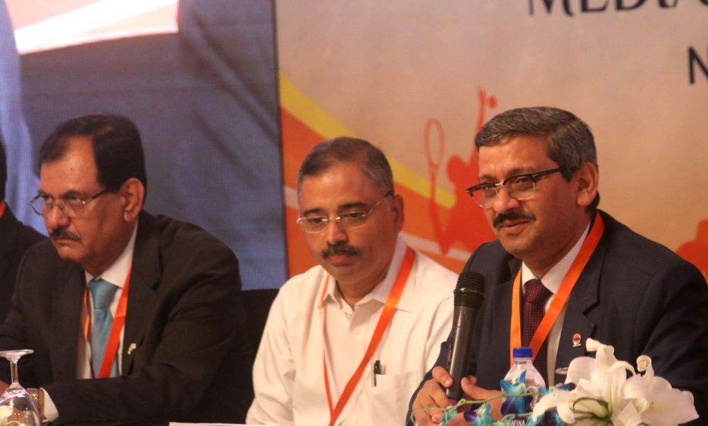 Indian Oil Corporation (IOC) Director (HR) Ranjan Kumar Mohapatra during a press conference on Indian Oil Sports Conclave 2018, in New Delhi on June 7, 2018. - Ranjan Kumar Mohapatra