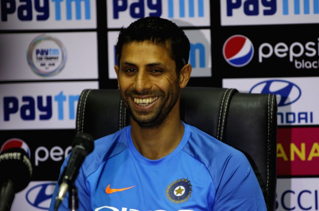 Indian pacer Ashish Nehra speaks to the media during a press conference held at the Rajiv Gandhi International Cricket Stadium, Hyderabad ahead of the 3rd T20 International match on ... - Ashish Nehra