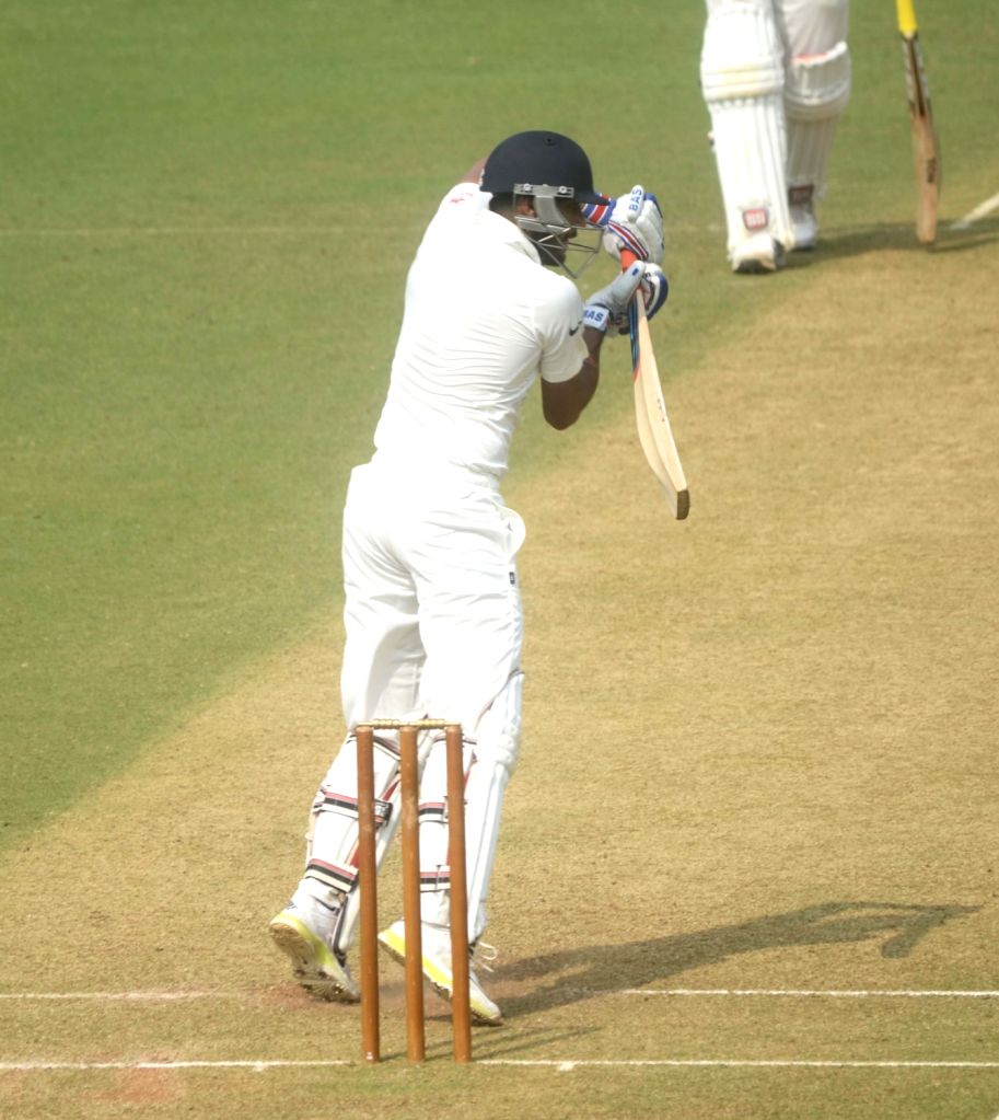 Indian player in action during a match between Indian Board President`s XI and South African at Brabourne Stadium in Mumbai on Oct 30, 2015.