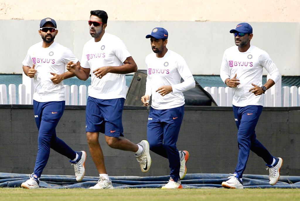 Indian players during a practice session ahead of the 3rd Test match against South Africa at JSCA International Stadium in Ranchi on Oct 18, 2019.