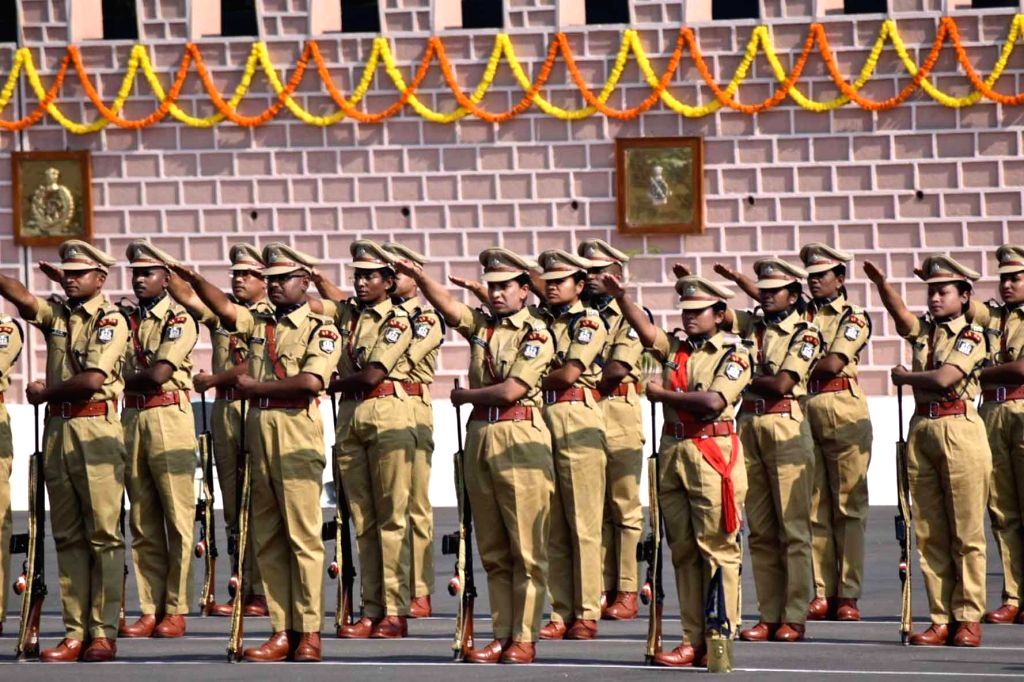 Indian Police Service (IPS) probationers participate in their passing out parade at Sardar Vallabhbhai Patel National Police Academy in Hyderabad on Oct 30, 2017. A total of 136 ...