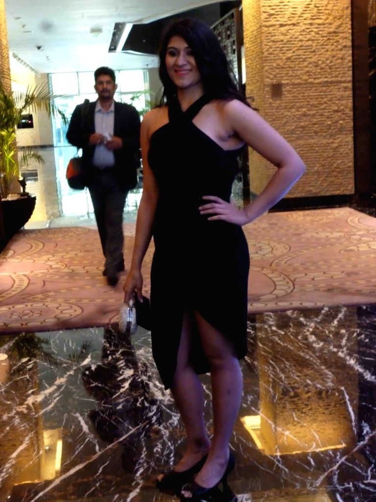Indian race car driver Sneha Sharma during the Federation of Motor Sports Clubs of India (FMSCI) awards ceremony in Hyderabad on Feb 3, 2017. - Sneha Sharma