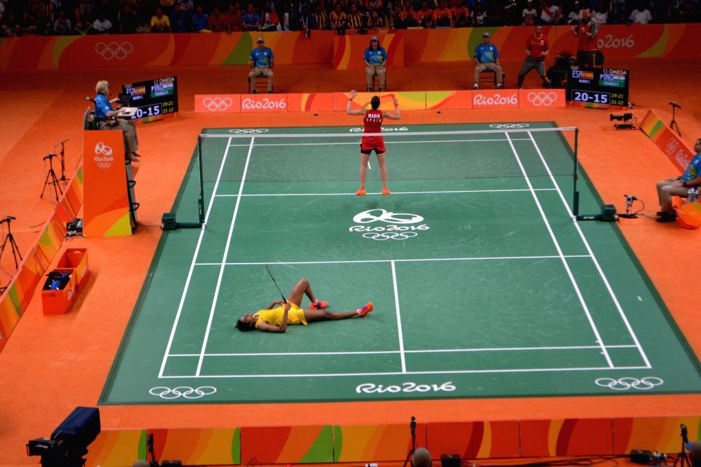 Indian Shuttler P.V.Sindhu\'s reaction after losing finals