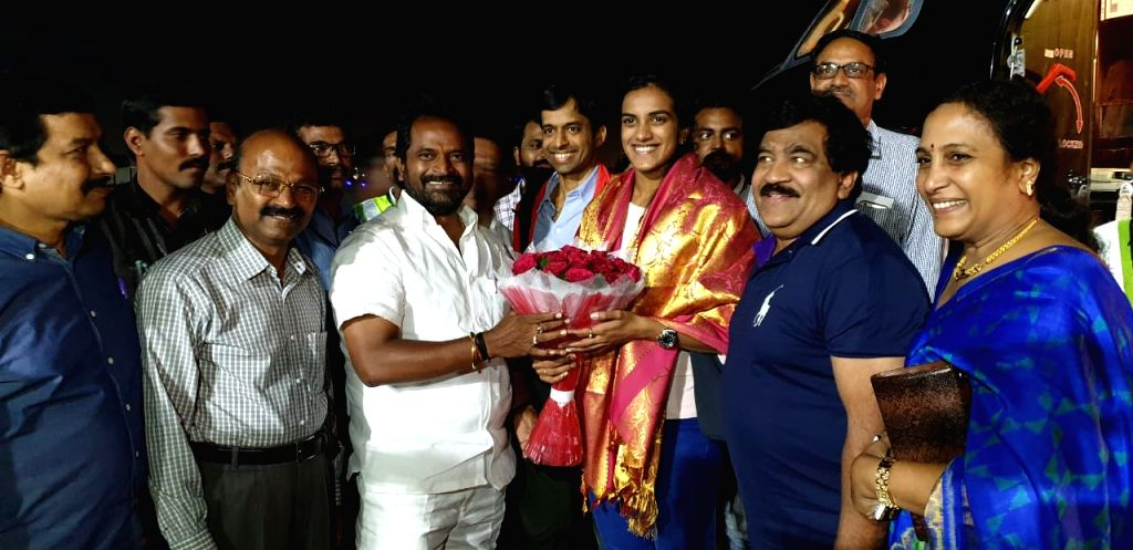 Indian shuttler P. V. Sindhu, who became the first Indian shuttler to win gold at the BWF World Championships after she thrashed Japan's Nozomi Okuhara 21-7, 21-7 in the final of the ...