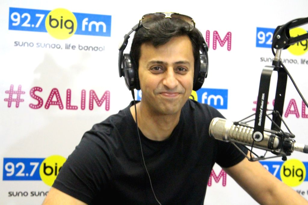 Indian Singer-Composer Salim Merchant during the launch of `#Salim` a new show on Big 92.7 FM in Mumbai on May 17, 2017.