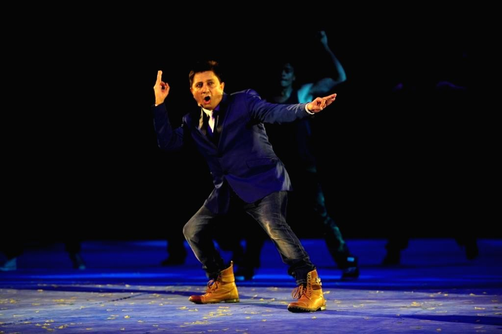 Indian singer Sukhwinder Singh performs during the inaugural function of World  Kabaddi  League at O2 Arena in London, United Kingdom on Aug 10, 2014. - Sukhwinder Singh
