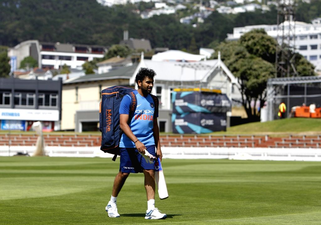 Indian skipper Rohit Sharma during a practice session at Basin Reserve cricket stadium in Wellington, New Zealand on Feb. 2, 2019. - Rohit Sharma