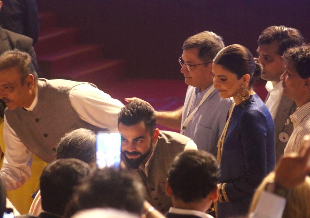 Indian skipper Virat Kohli and his wife Anushka Sharma during inauguration of Arun Jaitley Cricket Stadium in New Delhi on Sep 12, 2019. Delhi and District Cricket Association (DDCA) ... - Virat Kohli, Anushka Sharma, Feroz Shah Kotla and Arun Jaitley