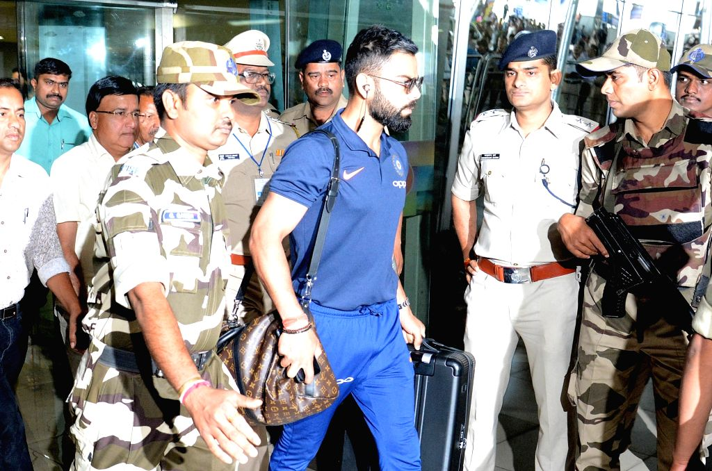 Indian skipper Virat Kohli arrives at Dr. Babasaheb Ambedkar Nagpur International Airport on March 3, 2019. - Virat Kohli