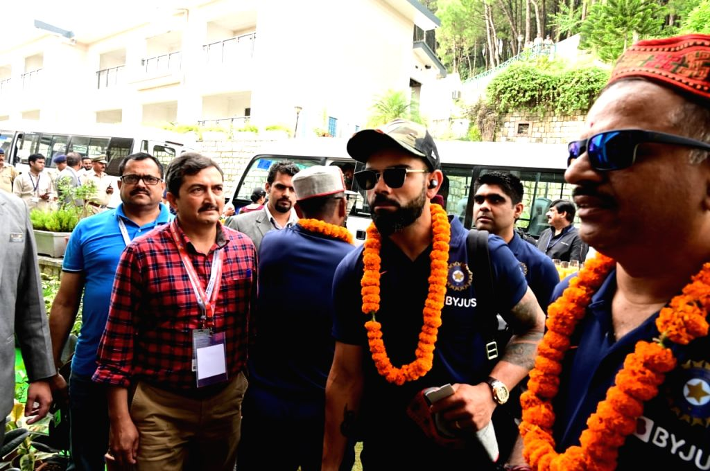 Indian skipper Virat Kohli arrives in Dharamsala ahead of India's first T20I match against South Africa, on Sep 13, 2019. - Virat Kohli