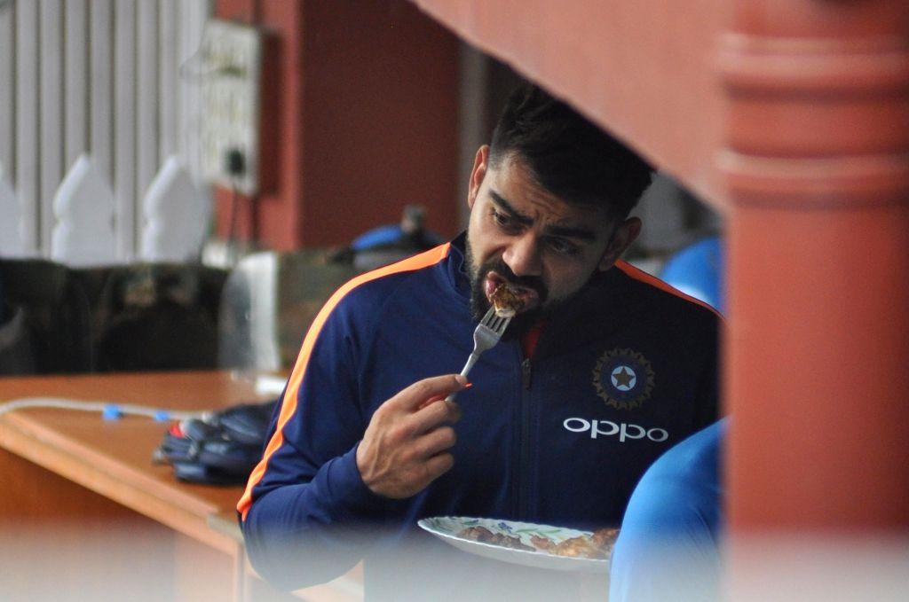 Indian skipper Virat Kohli at the Eden Gardens in Kolkata on Sept 20, 2017. - Virat Kohli