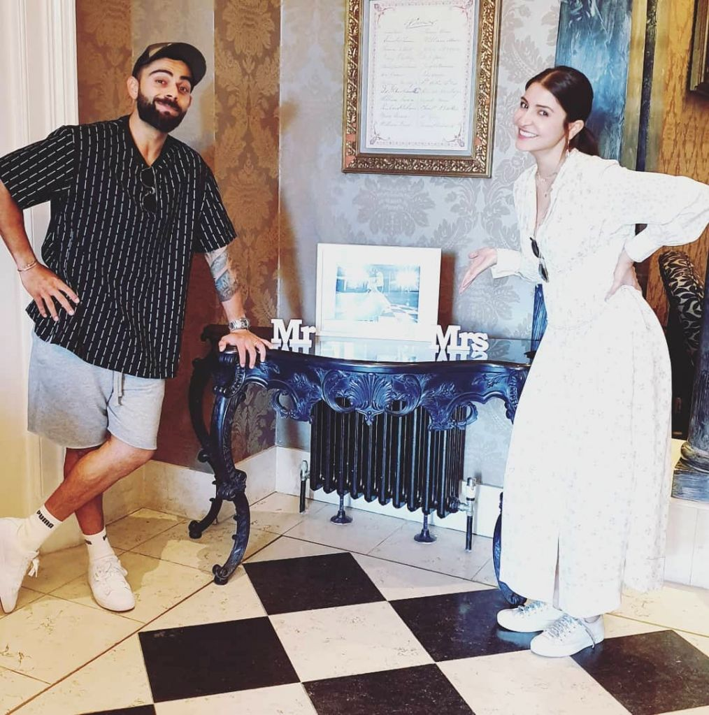 Indian skipper Virat Kohli caught up on some fun moments off field with his actress wife Anushka Sharma, ahead of team India's 2019 ICC Cricket World Cup clash with Sri Lanka. (Photo: Instagram/virat.kohli) - Virat Kohli and Anushka Sharma