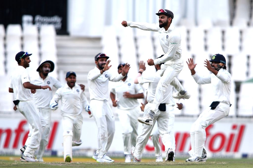Indian skipper Virat Kohli celebrates fall of Aiden Markram's wicket during Day 3 of the third Test match between South Africa and India at the Wanderers Stadium in Johannesburg, South ... - Virat Kohli