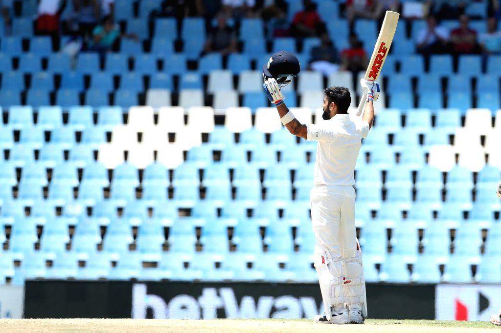 Indian skipper Virat Kohli celebrates his 150 runs during day 3 of the second Test match between South Africa and India at the Supersport Park Cricket Ground in Centurion, South Africa on ... - Virat Kohli